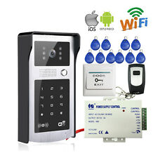 RFID Code/Keypad Wireless WiFi Video Intercom Door Phone Doorbell Free Shipping