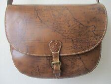 Patricia Nash Rosolini Leather Map Print Saddle Cross-Body Purse - Nwt