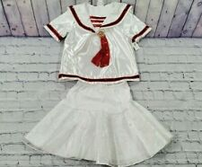 Disney Parks Minnie Mouse White Red Tutu Skirt Shirt Top Size Large 10-12