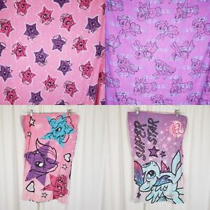 My Little Pony Super Star Full Double Fitted Flat Sheet Set + 2 Pillow Cases MLP