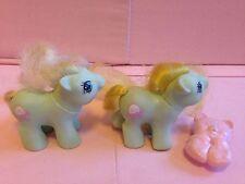 Hasbro My Little Pony Newborn Twins Jangles & Tangles Figures G1 80's