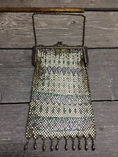 Antique Beaded Victorian Evening Handbag Coin Bag Purse Bead Fringe