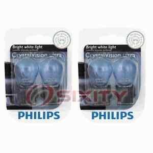2 pc Philips Brake Light Bulbs for Pontiac Bonneville Firebird G6 Grand Am qn