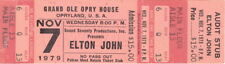 ELTON JOHN 1979 VICTIM OF LOVE TOUR UNUSED GRAND OLE OPRY HOUSE CONCERT TICKET