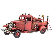 Rustic Firefighter Vintage Style Red Metal Fire Truck Farmhouse Country Decor