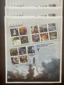 celebrate The Century ..Rare 1980's six Sheets $.33 Postage stamps