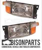 +Pair Of Scania 4  / 5 Series P & R Cab Headlight / Headlamp RH/OS & LH/NS