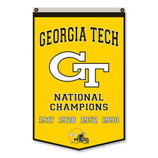 Georgia Tech National Champions Man Cave Flag Banner 30x50Inch