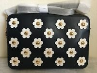 NWT Michael Kors Crossbodies Large Floral Appliqué Leather Crossbody Bag ADMIRAL