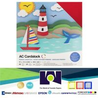 CARDSTOCK - AC - VARIETY PACK - 12x12 - TEXTURED - PRIMARIES (60 PIECES)