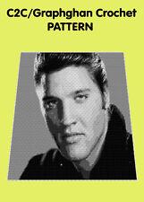 Elvis Tribute Blanket 1 - C2C Graphghan Crochet Pattern