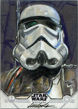 Star Wars Rogue One Series 1 Sketch Card Tim Dowler of Stormtrooper
