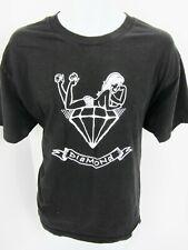 Large Diamond Black Tee T Shirt Topless Girl 98