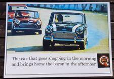 BMC Mini Cooper S Mk 1 1964 Brands Hatch Vintage Ad Gallery Postcard VM74PC Mint