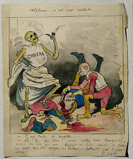 Dessin Satirique 19ème original Guerre de 1870 caricature