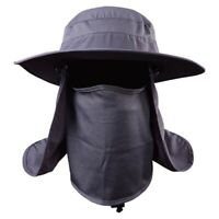 Hiking Fishing Hat Outdoor Sport Sun Protection Neck Face Flap Cap Wide Brim Hat