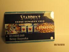 Stardust Casino-PrimeRewards Club Card- Las Vegas,Nv.(closed casino)-nice