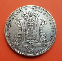 1790 VERACRUZ MEXICO PROCLAMATION MEDAL SILVER 1789 CARLOS IV España H-229 40,5