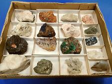 Mineralien/Mineraliensammlung - Lot/Flat/Kiste/Karton: Klein- & Handstufen - 25