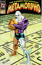 COMIC BOOK - METAMORPHO #1 - DC COMICS 1 AUG 1993 - The ELEMENT MAN RETURNS!