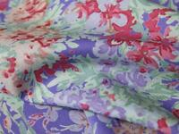 Purple Lilac Pink Floral 100% COTTON LAWN fine quality FABRIC for dress making