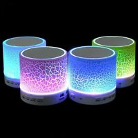 Bluetooth Wireless Led Portable Speaker Mini Musical Audio Subwoofer Night Light