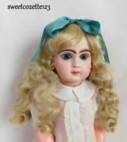 """Doll Wig Light Blonde Size 13"""" New in Pkg. Synthetic Long Curls NICE"""