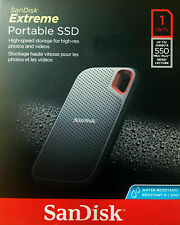 NEW SANDISK EXTREME 1TB EXTERNAL USB 3.1 PORTABLE SOLID-STATE DRIVE WATERPROOF