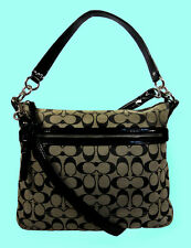 COACH 30902 POPPY PERRI HIPPIE OP ART Signature Cross-Body Bag Msrp $195.00