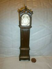 dolls house furniture Dijon Grandfather clock ( oak ) 1/12th scale toy