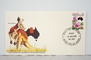 Establishment of Government of the Northern Territory 1978 Australian FDC Stamp