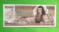 UNCIRCULATED UNC Mexico Banknote 1000 Pesos Paper Money - Mexican bills Mil BDM
