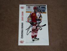 Roman CERVENKA - original autogramm, CZE WCh Hockey Gold (2010), Foto 10x15 cm