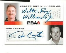 Walter Ray Williams + Don Carter PBA dual autograph RITTENHOUSE