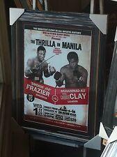 Joe Frazier Vs Muhammad Ali Thrilla In Manila Signed Poster