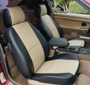 TOYOTA PRIUS 2016-2021 IGGEE S.LEATHER CUSTOM MADE FIT SEAT COVERS 13 COLORS