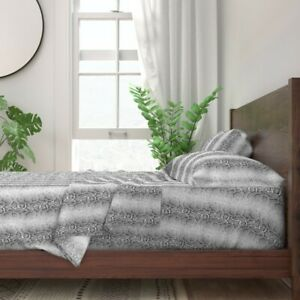 Snake Snakeskin Reptile Skin Hide 100% Cotton Sateen Sheet Set by Roostery