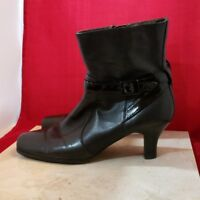 Kenneth Cole Reaction Black Leather Upper Boots Size 7