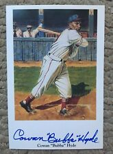 Negro Leagues Cowan Bubba Hyde D 2004 Autographed Ron Lewis Series 1 Nr Mint
