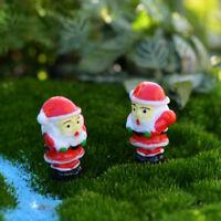 PCS Santa Claus Noël miniature jardin décor micro figurines paysage