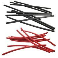 2 Meter Schrumpfschlauch rot schwarz 2,4 auf 1,2 mm ideal für dünne Litze + LEDs