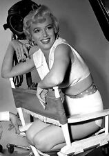 Sexy Photo 8.25x11.75 Marilyn Monroe Glamorous Dress sitting pose #063
