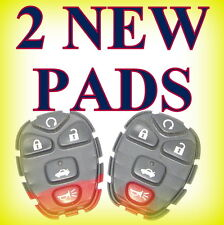 2 BRAND NEW REPLACEMENT BUTTON PADS KEYLESS REMOTE ENTRY PART NUMBER # 22733524