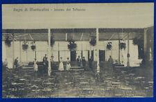 BAGNI DI MONTECATINI Interno del Tettuccio animata viaggita 1909 f/p #20863