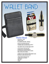 GENUINE LEATHER-MONEY CLIP-CASH CARD HOLDER-HOLDS CASH+MONEY+ID