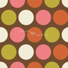 Indian Summer Big Brown Dot by Zoe Pearn for Riley Blake, 1/2 yard cotton fabric