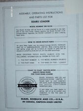 100.26210-Sears Suburban Kwikway Hydraulic Loader Manual on CD