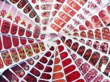 50 Sheets Nail Art Decal Stickers Water Slide Tattoo Transfer Random Full Size
