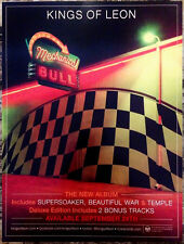 Kings Of Leon Mechanical Bull Ltd Ed Mini Poster Window Cling+Free Rock Stickers