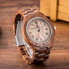 Fashion Natural Sandal Mens Wood Watch UWOOD Wooden Watch Men Relogio Masculine